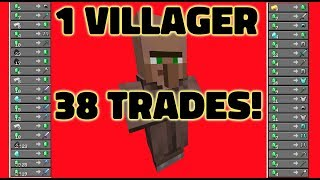 Old Villagers = Over Powered! 1 Villager 38 Trades! [How to update villagers to 1 14+] Minecraft YouTube