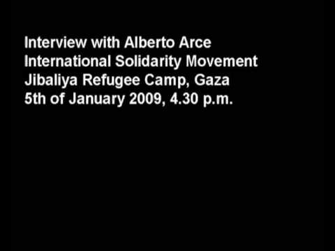 Interview Alberto Arce idf attacks on hospital 5th January 2009