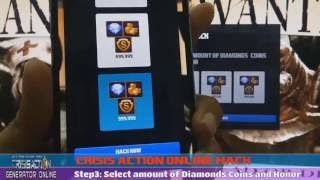 How To Hack Crisis Action - Crisis Action Hack Diamonds,Honor And Coins 2016 (Android/Ios)