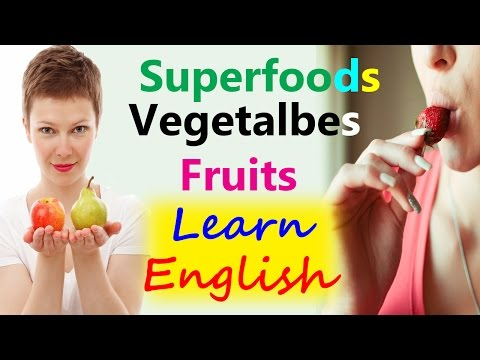 Superfoods | Healthy fruits and vegetables | Learn English through Hindi, Urdu फल سبزیاں