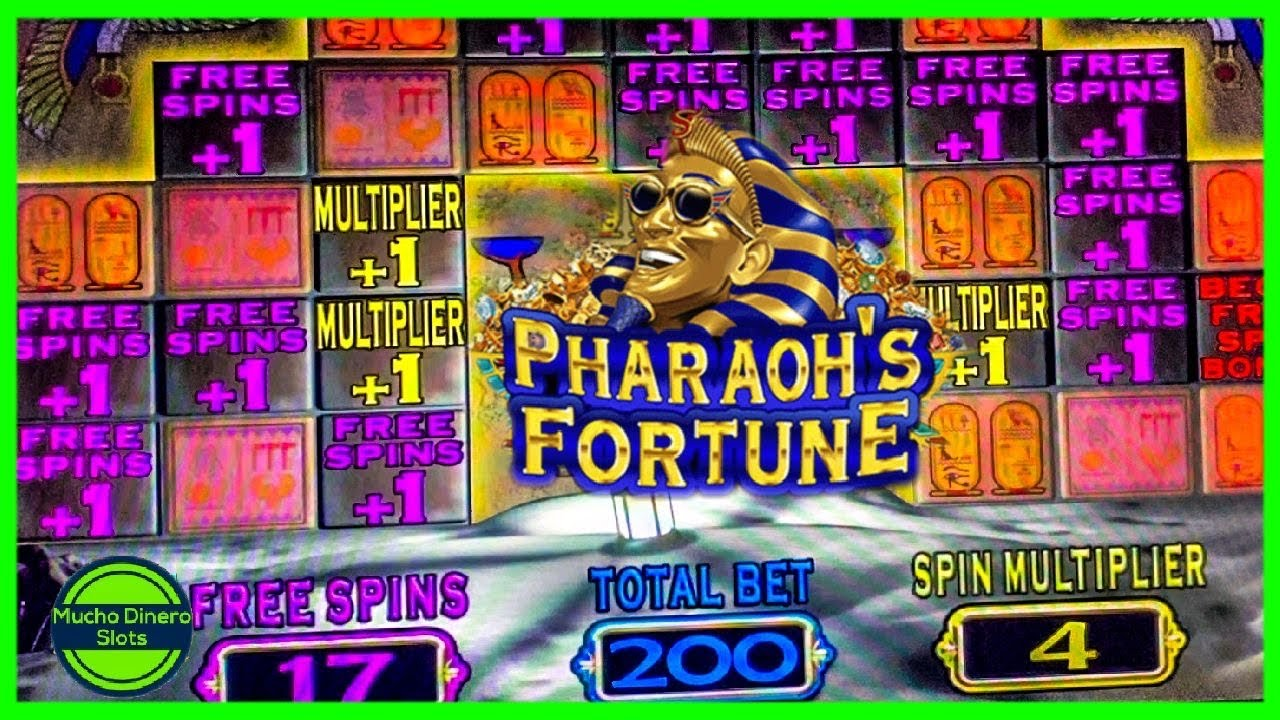 4X MULTIPLIER/ FREE GAMES/ PHARAOH'S FORTUNE SLOT JACKPOT/ HIGH LIMIT/ MAX BETS
