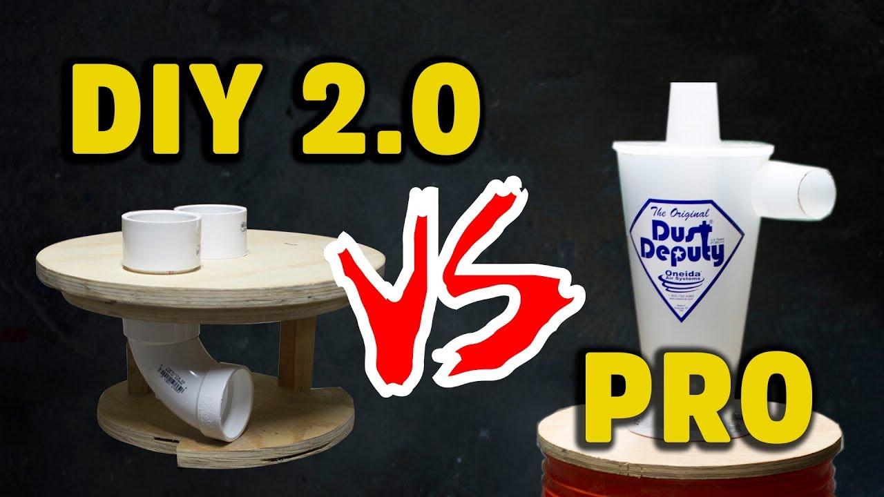 IMPROVED cyclone dust collection vs Oneida Dust Deputy (2/2) - HNB #10