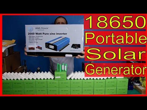 18650 Portable Solar Generator, Tesla Powerwall, Giveaway and 600 Samsung 18650 25R Lipo Batteries