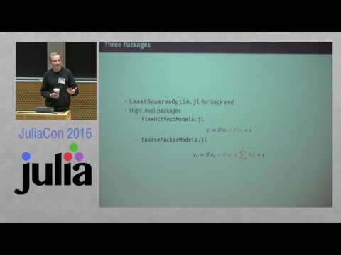 JuliaCon 2016 | Least Squares with High-Dimensional Variables | Matthieu Gomez