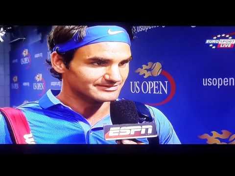 2013 US OPEN Men's Singles - Round 2 Federer V Carlos Berlocq賽前專訪20130829W153018