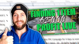 FINDING A $2000 ONLINE ARBITRAGE Month Product  -Tactical Arbitrage LIVE SOURCING For AMAZON FBA