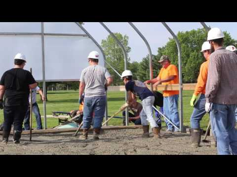 Lincoln Trail College Construction Concrete Pour