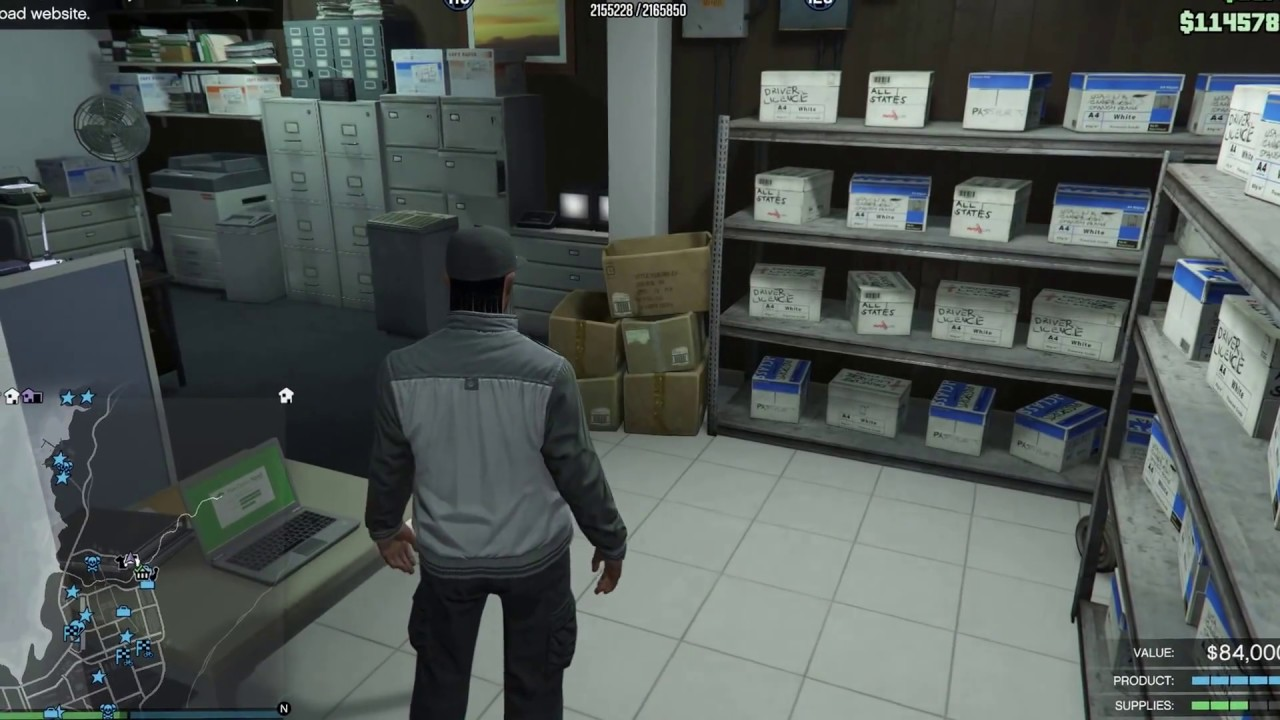 GTA Online Bikers- selling documents - YouTube