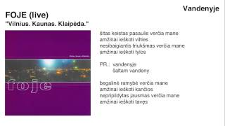 "FOJE - ""Vandenyje"" (live)"