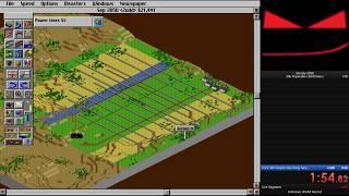 SimCity 2000 (DOS) - 30k population Speedrun in 2:13.33