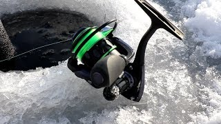 Piscifun Venom Reel review | Ice Fishing for CRAPPPIE 12-18-2017