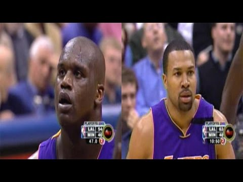 Shaquille O'Neal & Derek Fisher Full Highlights Vs Timberwolves 2003 WCR1 GM5