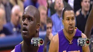 Shaquille O'Neal & Derek Fisher Full Highlights vs Timberwolves 2003 WCR1 GM5