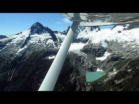 Flying over the Coast Mountains ~ Tantalus Range of British Columbia