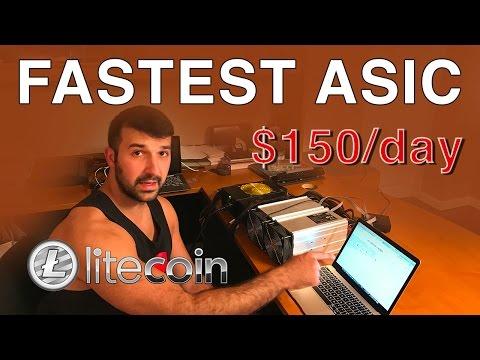 Fastest Asic Litecoin Miner - $150 per day profit