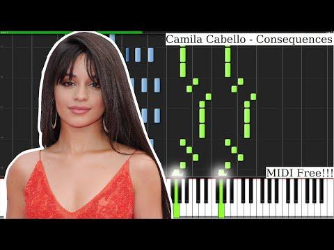 Camila Cabello - Consequences (orchestra) PIANO TUTORIAL MIDI FREE