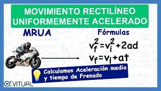 Movimiento rectilíneo uniformemente acelerado ejemplo 2 de 4 | Física - Vitual