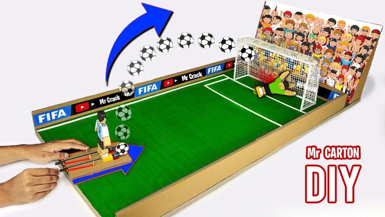 Como Hacer Juego De Mesa De Futbol Con Carton Youtube