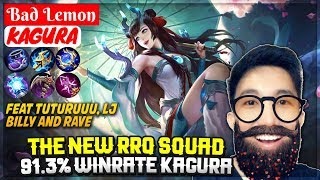 The New RRQ Squad, 91.3% Winrate Kagura [ Bad Lemon Kagura ] Mobile Legends