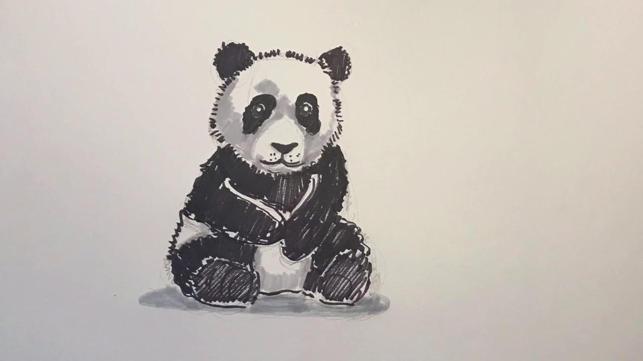 Panda resmi nasıl çizilir | Sevimli panda çizimi