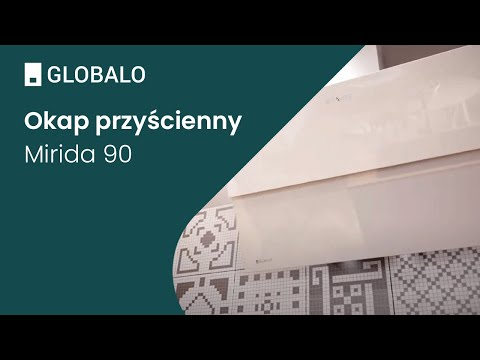 Okap przyścienny GLOBALO Mirida 90.3 WHITE/WH