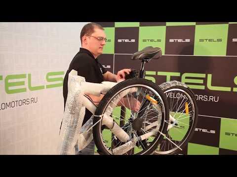 """Видео инструкция по сборке и настройке велосипеда на примере """"Stels"""" Navigator 700 V"""