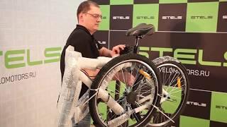 Відео інструкція по збірці і налаштування велосипеда на прикладі ''Stels'' Navigator 700 V