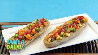 Mixed Vegetable Open Hot Dog Roll (healthy Breakfast & Snack) By Tarla Dalal