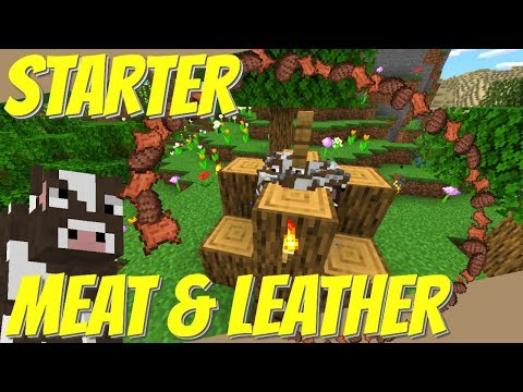 How To Make A Cow Farm In Minecraft: EASY Starter Meat Farm & Leather Farm For 1.14/1.15 (Avomance)