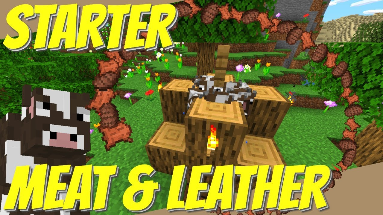 How To Make A Cow Farm In Minecraft Easy Starter Meat Farm Leather Farm For 1 14 1 15 Avomance Youtube