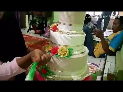 Kue Pengantin 3 Tingkat Sederhana Tutorial