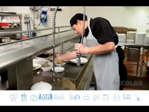 Ecolab cleaning caddy training bathroom doovi for Housekeeping bathroom cleaning procedure