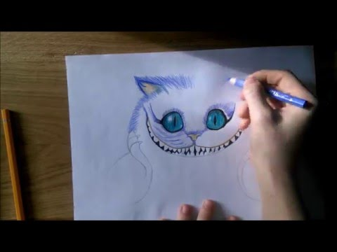 Cheshire Cat Drawing | Drawing Pictures