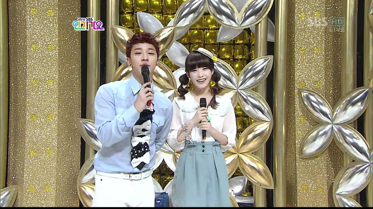 2011-03-27 SBS Inkigayo MC IU and KiKwang Cut - YouTube