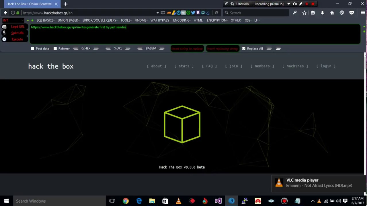 How to get invite code in hackthebox gr