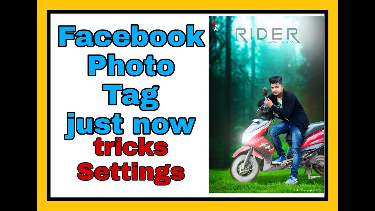 How to Tag photo just now // tagging privacy settings