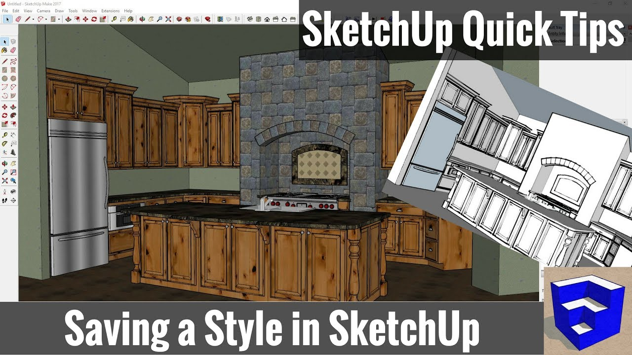 Saving Styles In SketchUp SketchUp Quick Tips YouTube