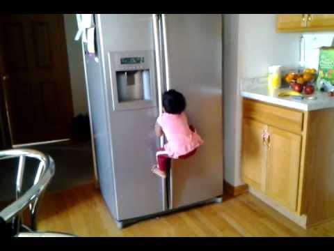 Baby S Day In Climbing The Fridge Youtube