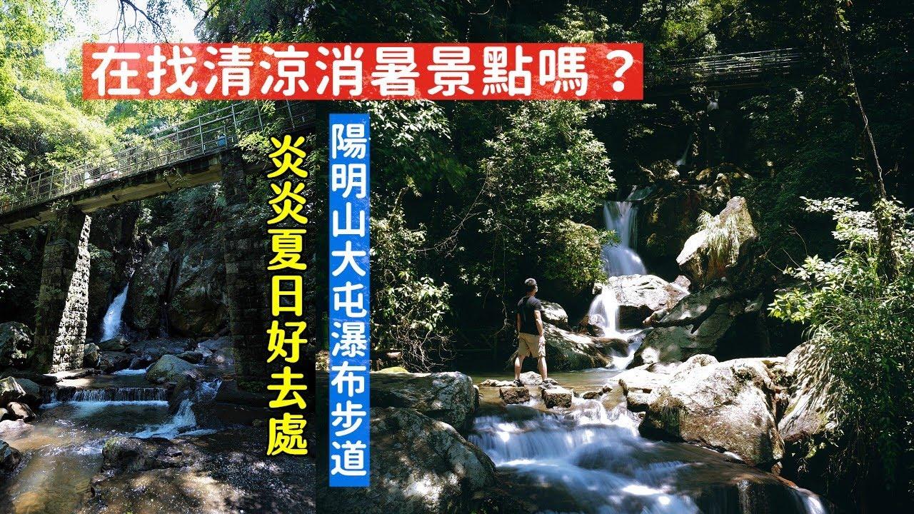 疫情降級後在找消暑景點嗎?陽明山大屯瀑布步道被森林包圍,又有清涼的天然水氣讓你暑意全消