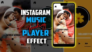 Instagram Trending Mp3 Player Style Fullscreen Video Editing | alight motion Tutorial Tamil