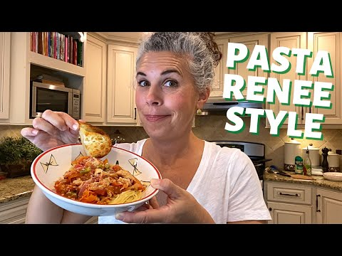 easy-chicken-&-pasta-recipe-~pasta-renee-style-~-#stayhome-and-cook-#withme