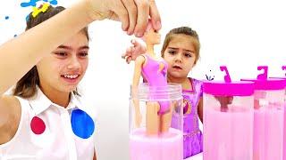 Nastya e Mia coleção de novas séries sobre brinquedos ناستيا وميا صنع أشكال طينية كبيرة وملونة