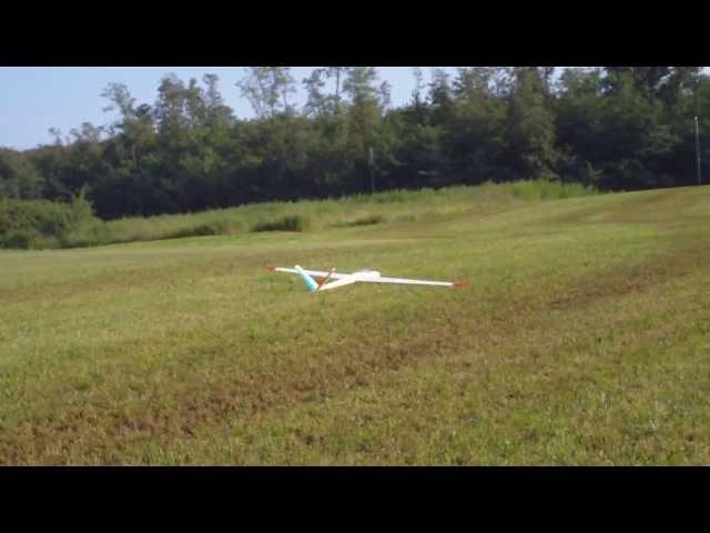 Traino aeromodelli, atterraggio Salto da 4.5mt