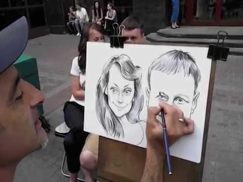 Шарж карандашом на Пикассо