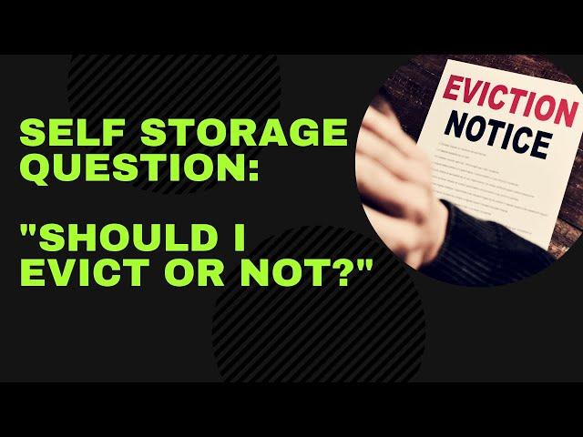 Self Storage Question: