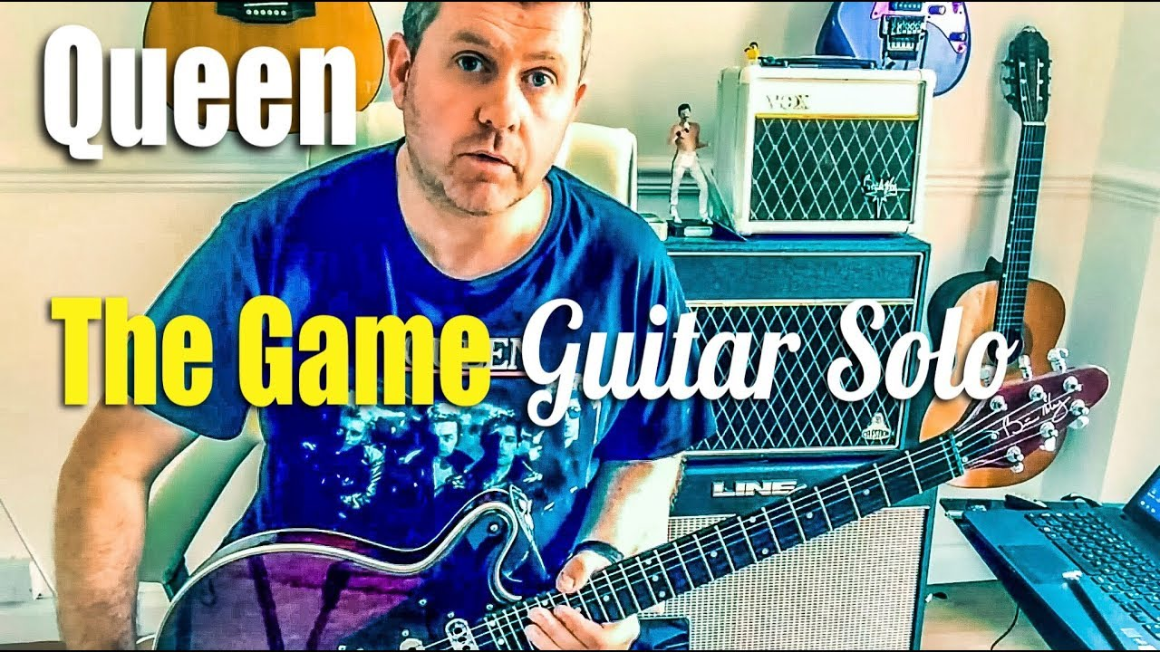 Queen - Play The Game - Guitar Solo Tutorial (Guitar Tab)
