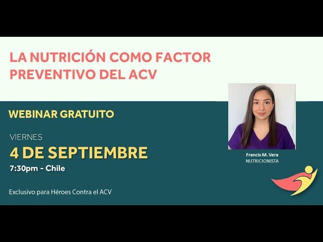 Nutrición indicada para reducir los riesgos de ACV