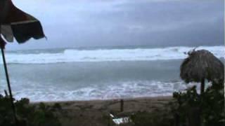 hurricane produced massive waves in the dominican republic sosua www wondrousadventure com