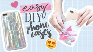 CHEAP & EASY DIY PHONE CASES 2017! | Trendy Phone Cases You NEED To TRY!!