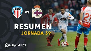 Resumen de CD Lugo vs RC Deportivo (1-0)